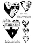 Collaged Hearts