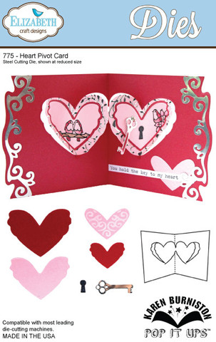 Heart Pivot Card Die