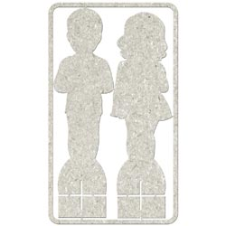 Die-Cut Grey Chipboard Embellishments