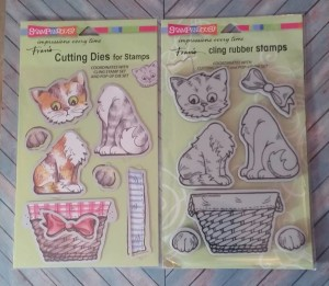 Pop Up Kitties Cling Stamps and Cutting Dies