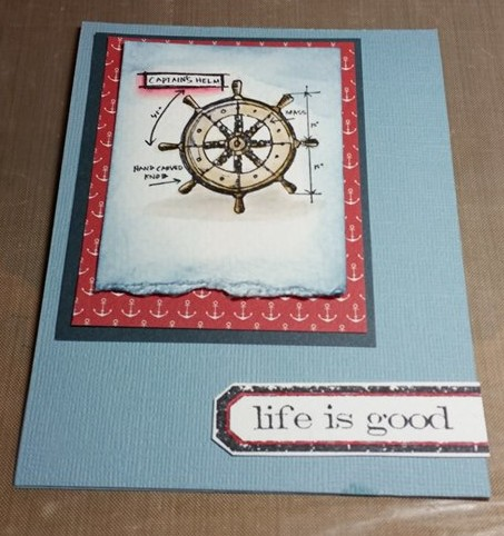 Completed card... on plain cardstock