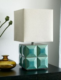 Crackle Teal Tiled Table Lamp | Everything Turquoise