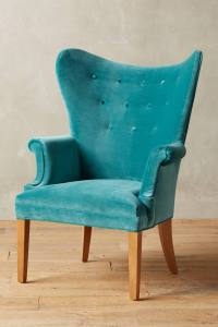 Teal Velvet Wingback Chair | Everything Turquoise