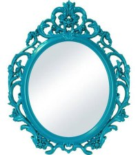 Teal Baroque Oval Wall Mirror | Everything Turquoise