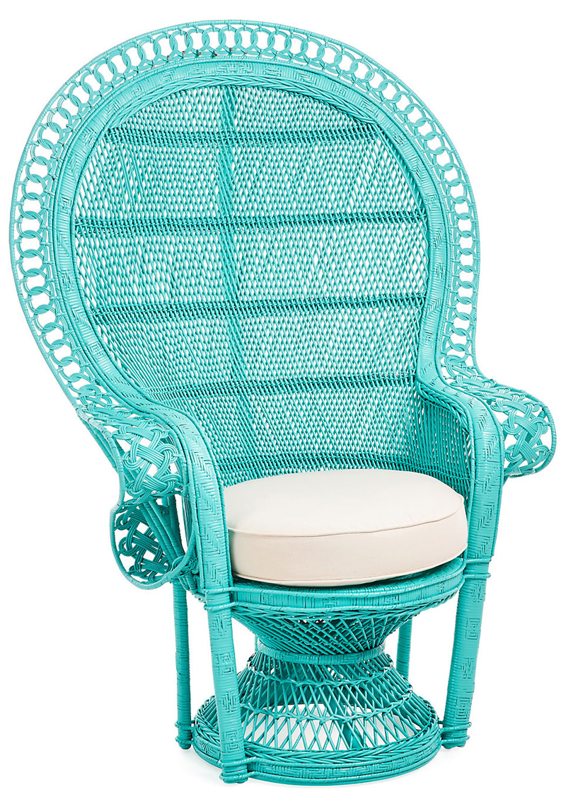 Turquoise Accent Chair Turquoise Peacock Accent Chair | Everything Turquoise