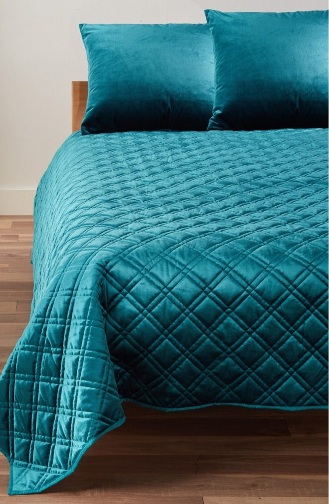 Reversible Duvet Set Blue Velvet Duvet Cover | Home Decor