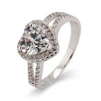 Beautiful Heart CZ Promise Ring | Eve's Addiction