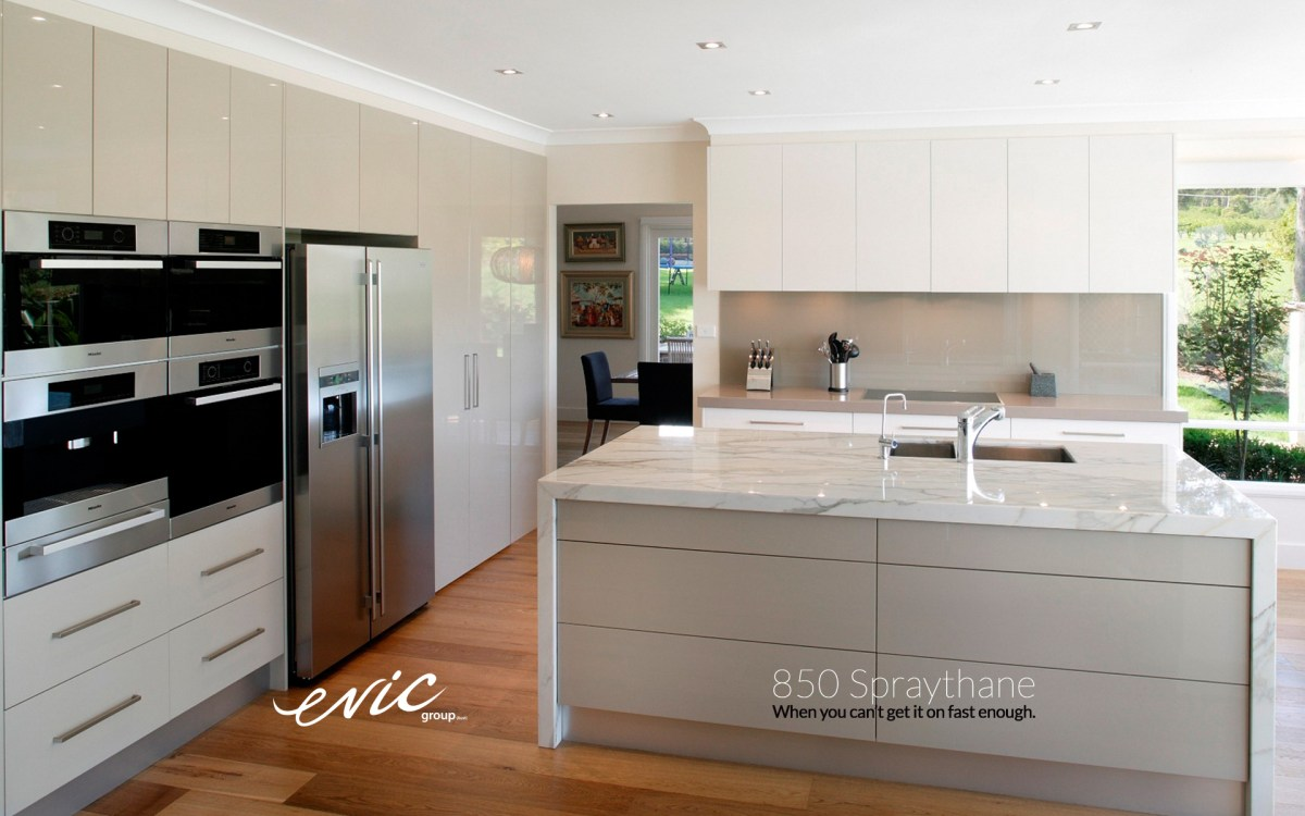 Balmain Kitchen featuring 850 Spraythane cupboards