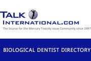 Talk International Mercury Safe Dentist Directory