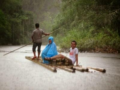 Balanting Paring sambil hujan-hujanan