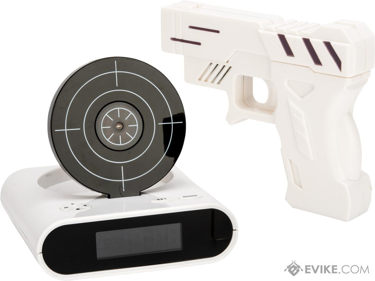 Alarm Clocks Target Gun And Target Recordable Alarm Clock Color White More