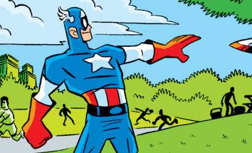 Captain America on a picnic