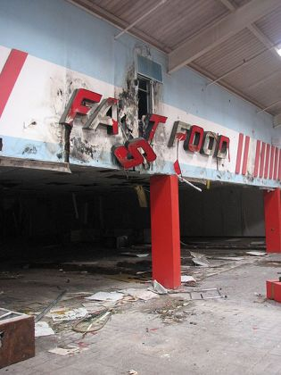 Derelict fast food restaurant
