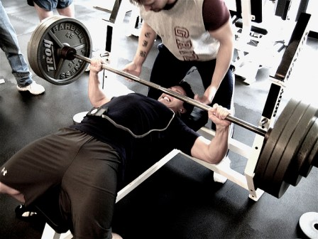 Man doing the benchpress exercise
