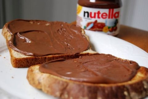 Nutella sandwich and jar