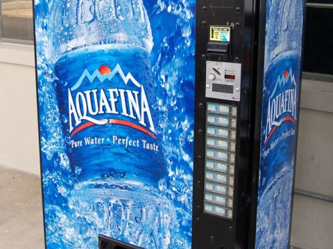 Aquafina bottled water vending machine