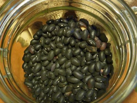 Jar of black beans