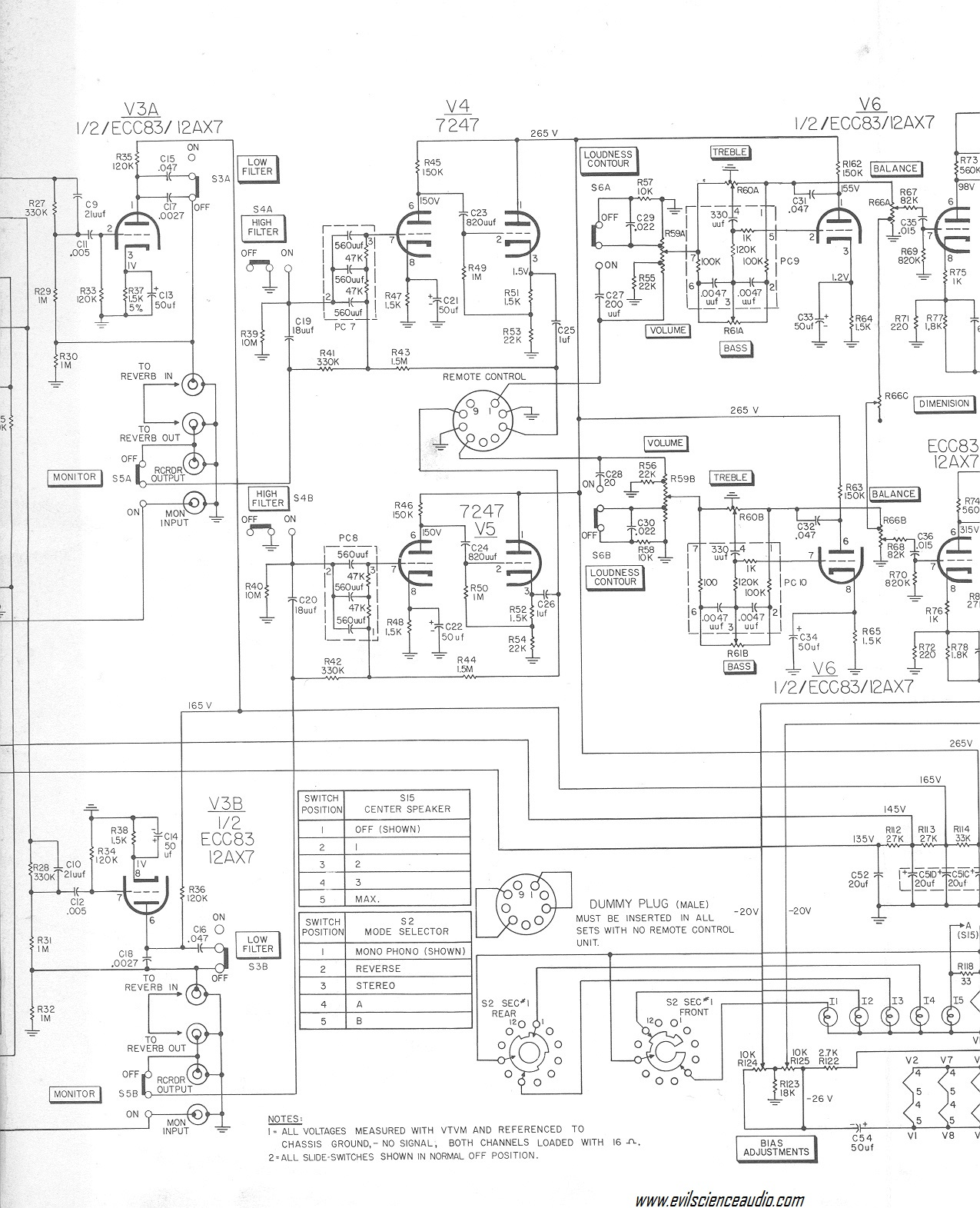 hi fi tube amp schematics