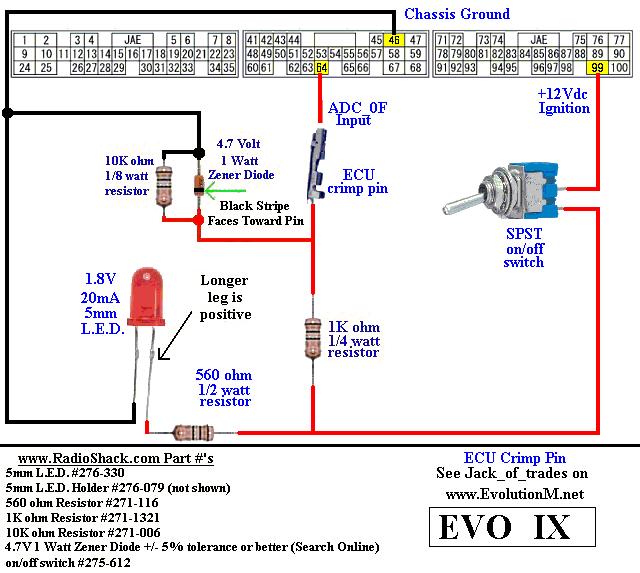 evo 9 car radio wiring