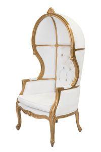 White & Gold Porter Chair