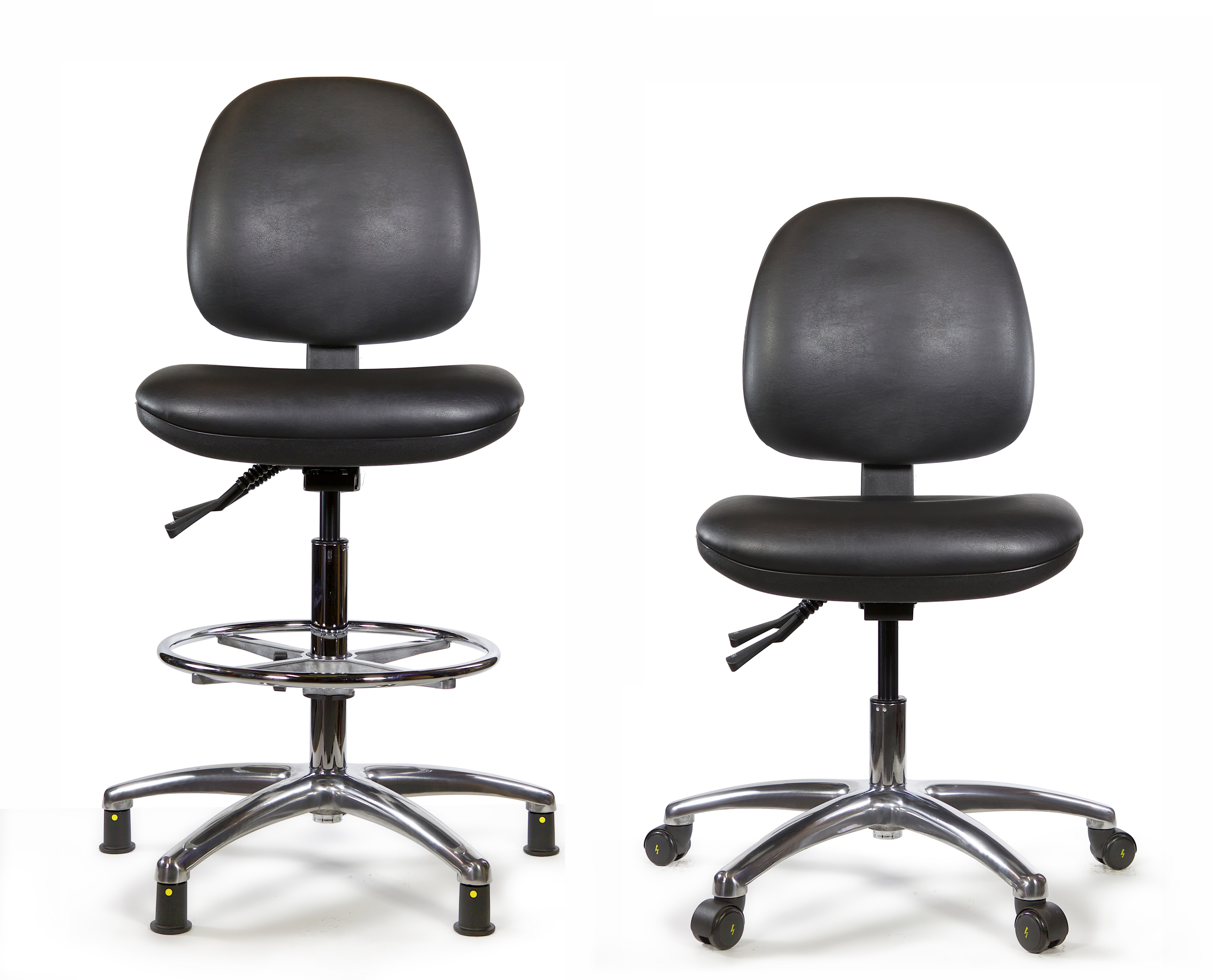 C Tech Vinyl Esd Cleanroom Chair Evolve Healthcare Products