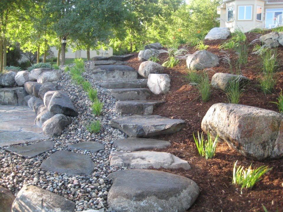Natural Stone Steps Detail Evolving Environments Llc