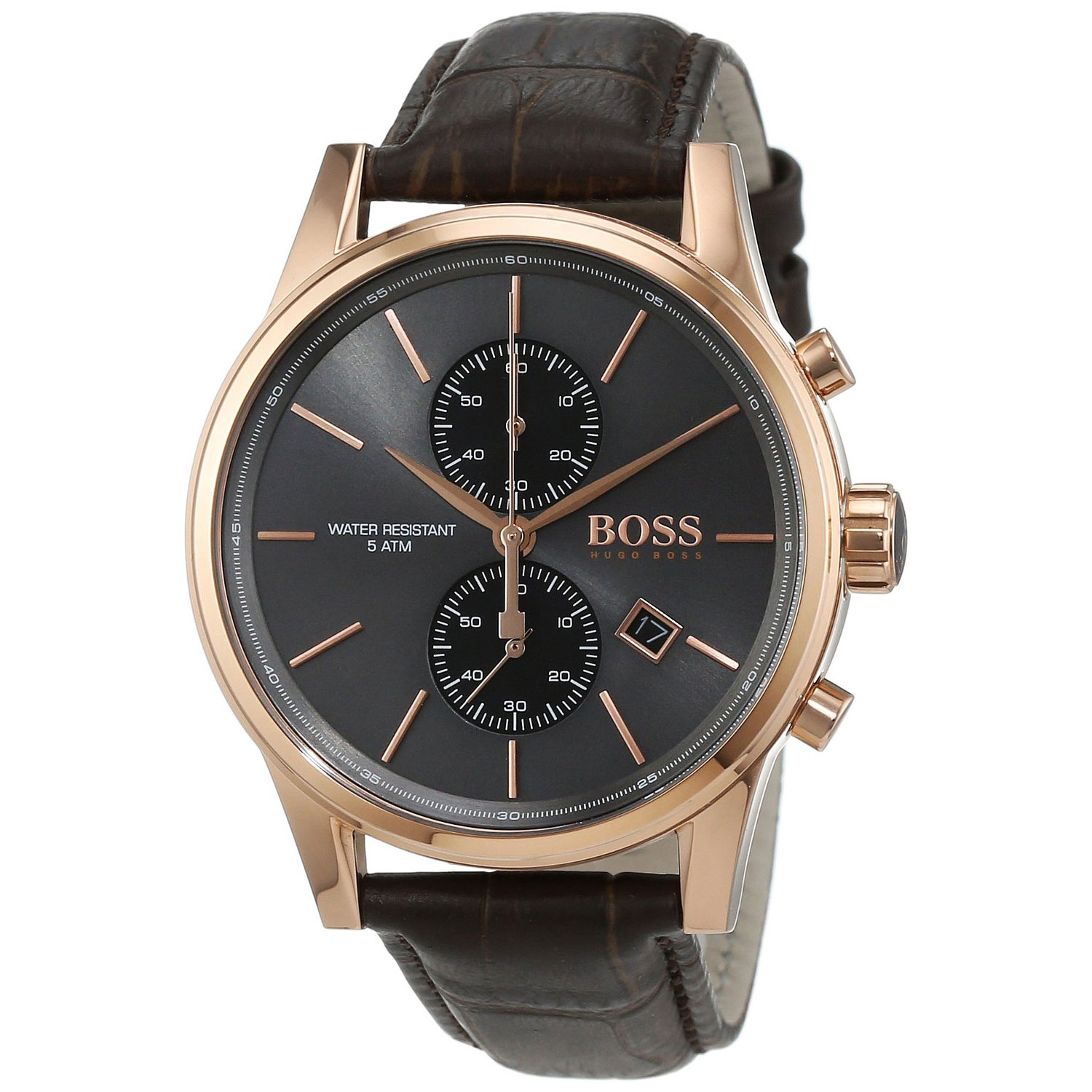 Hugo Boss Uhren Herren Hugo Boss Watch With Rose Gold Stainless Steel And Black