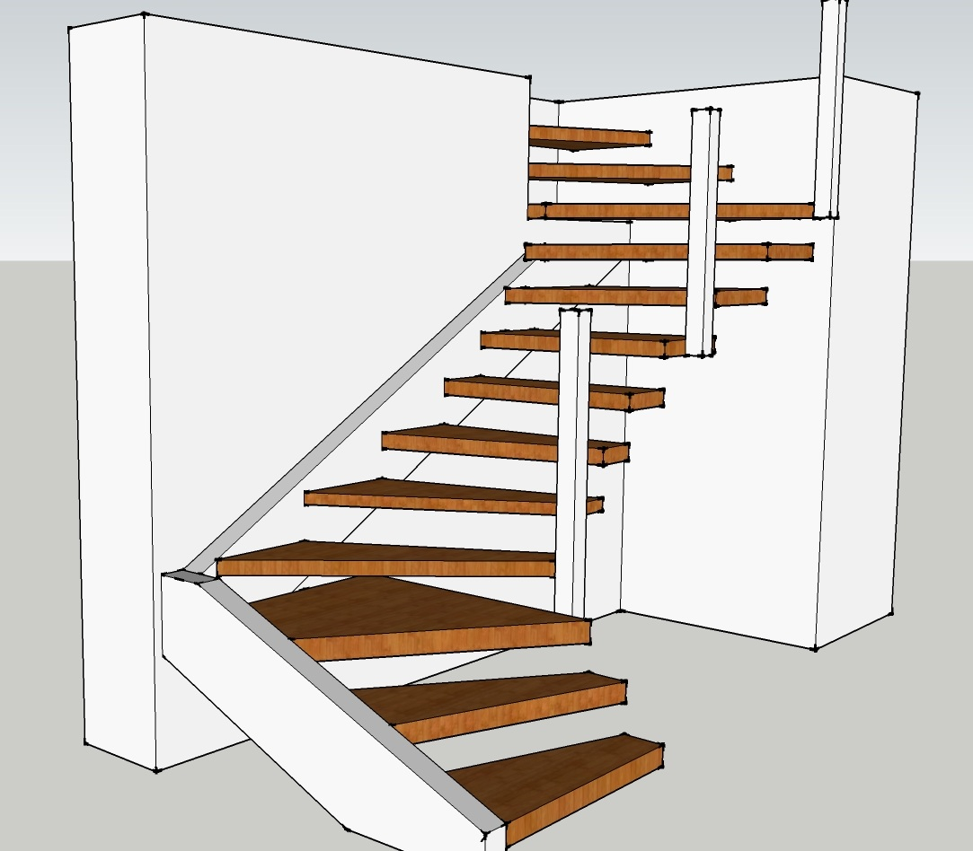 How To Build Floating Stairs Floating Stair Evstudio Architect Engineer Denver