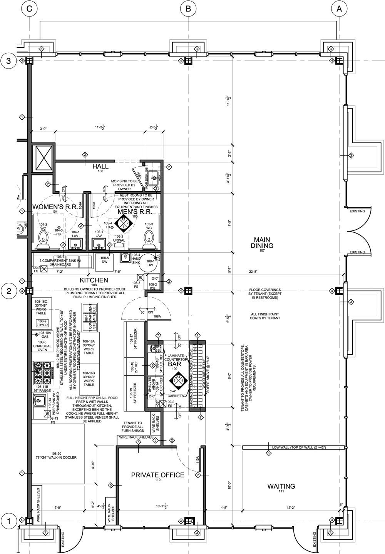 Restaurant Evstudio Architecture Engineering Planning