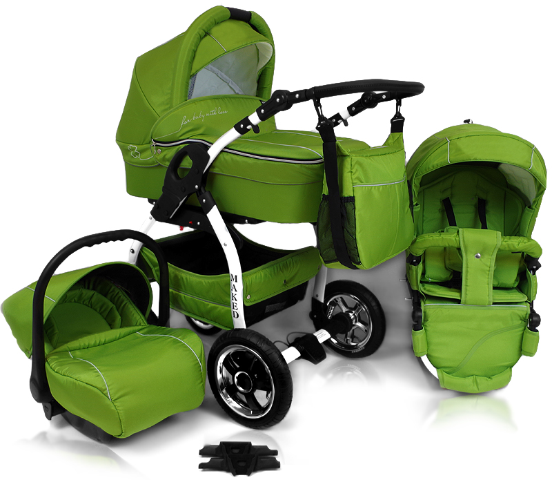 Kinderwagen Trio Set Günstig Trio Set Lucky Limette
