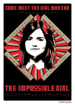 Doctor Who poster IMPOSSIBLE GIRL by Ewan McGee