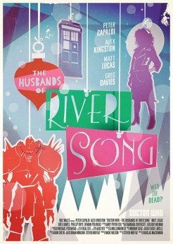 Doctor Who series 9 Radio Times poster by Stuart Manning 13 – Husbands of River Song