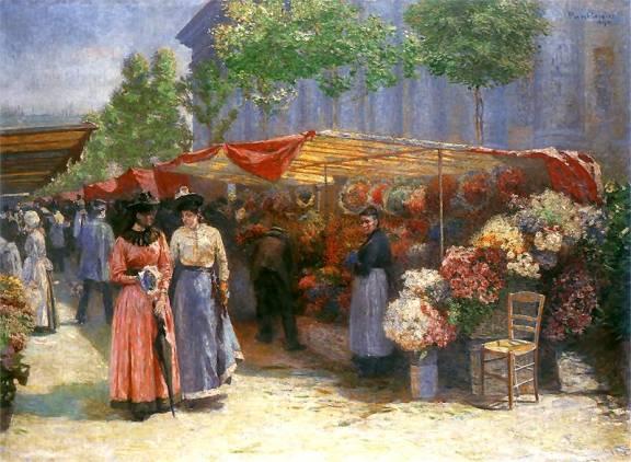 Józef Pankiewicz - Targ na kwiaty