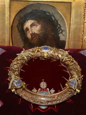 Relikwie Korony Cierniowej Chrystusa przechowywane w katedrze Notre -Dame w Paryżu