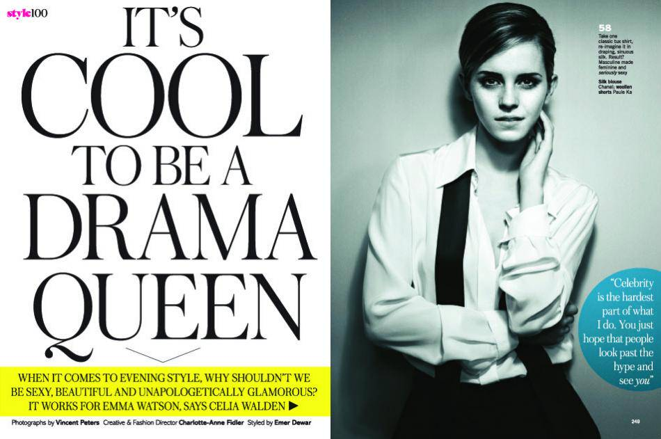 Never Trust On Girl Wallpaper Emma Watson Glamour Uk October 2012 Photos And Interview