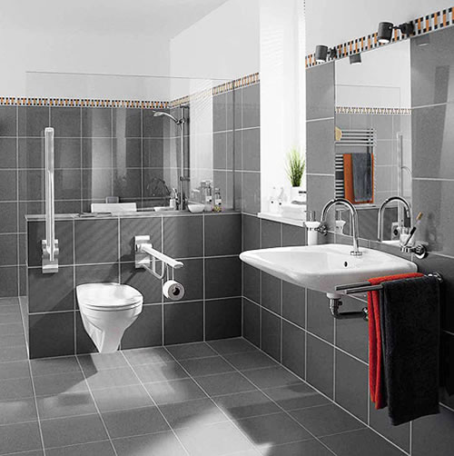 bathroom tile designs for small bathrooms  EwdInteriors - small bathroom tile ideas