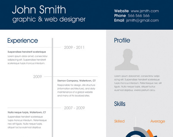 Neat and Engaging Free Resume Templates u2013 eWebDesign - how to make a one page resume