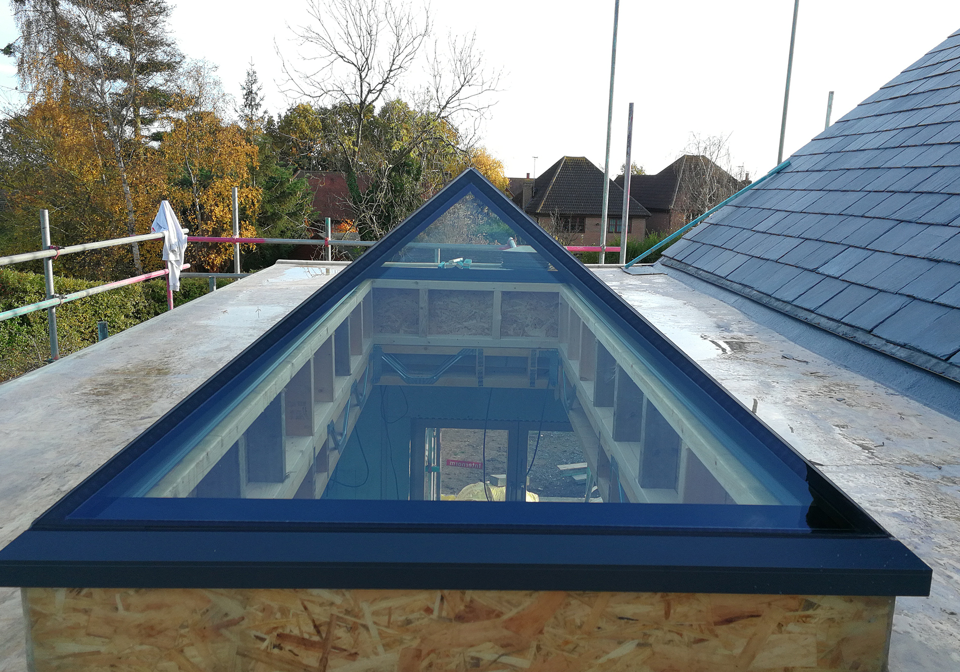 Glass Roof Extension Rear Extension Receives Exact Pure Glass Roof Lantern Exact
