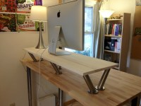 How to Make a Standing Desk on Top of a Regular Desk ...