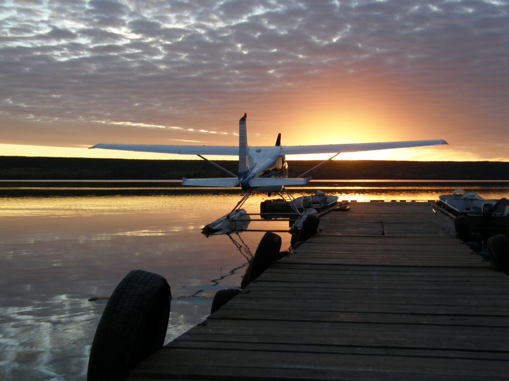 Victoria Falls Sunset Wallpaper Charter Float Plane Red Lake Ear Falls Ontario Canada