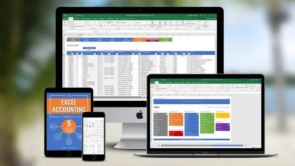 Excel Accounting Template - Try The All-In-One Accounting Solution