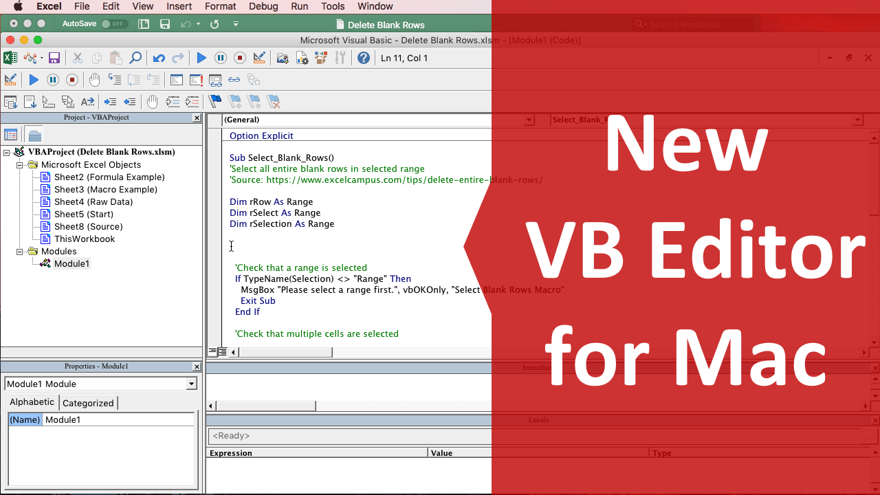 Microsoft Office Mac Fr New Vb Editor For Excel 2016 For Mac Excel Campus