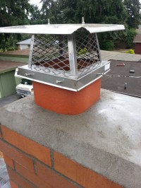 Finished Chimney Cap - Seattle Chimney and Fireplace Repair