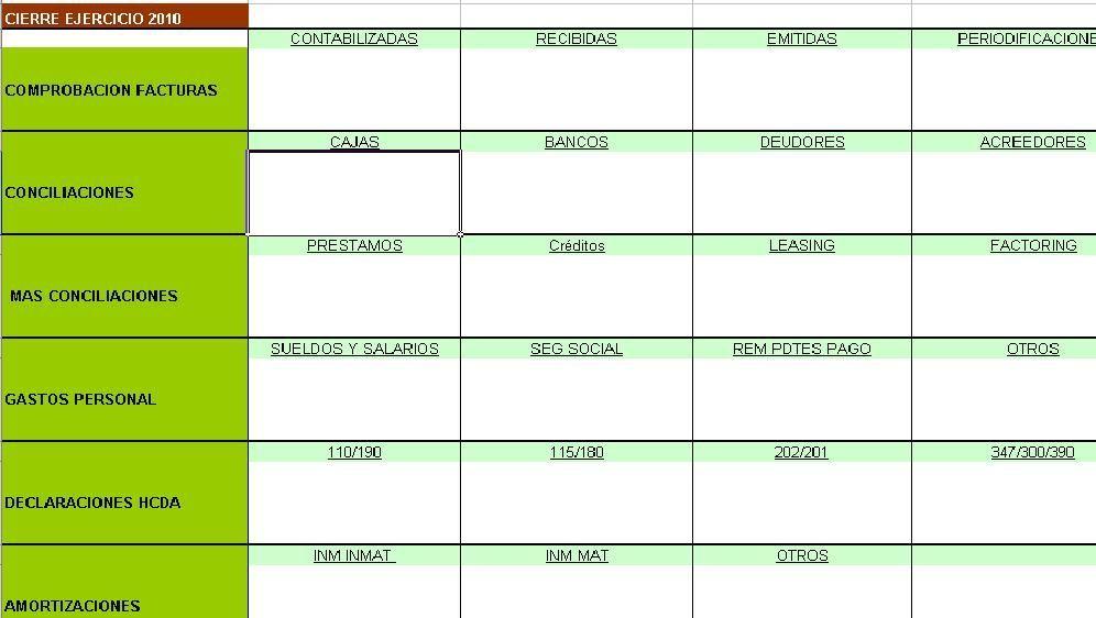 Plantilla Excel cierre contable lista para usar facilmente