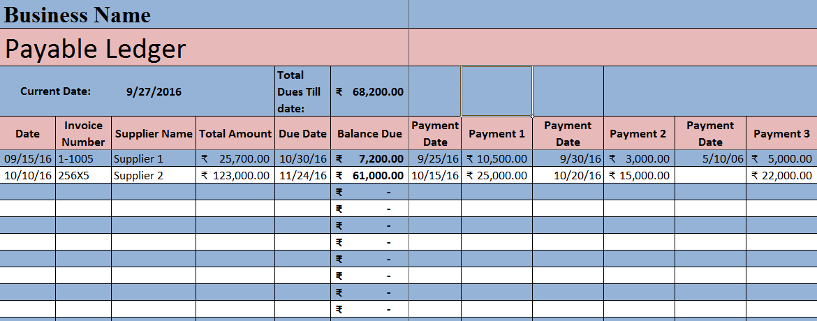 accounts payable invoice tracking excel