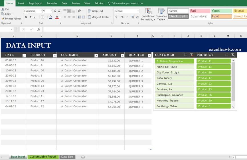 Download Excel Sales Report in Weekly Monthly Quarterly Period