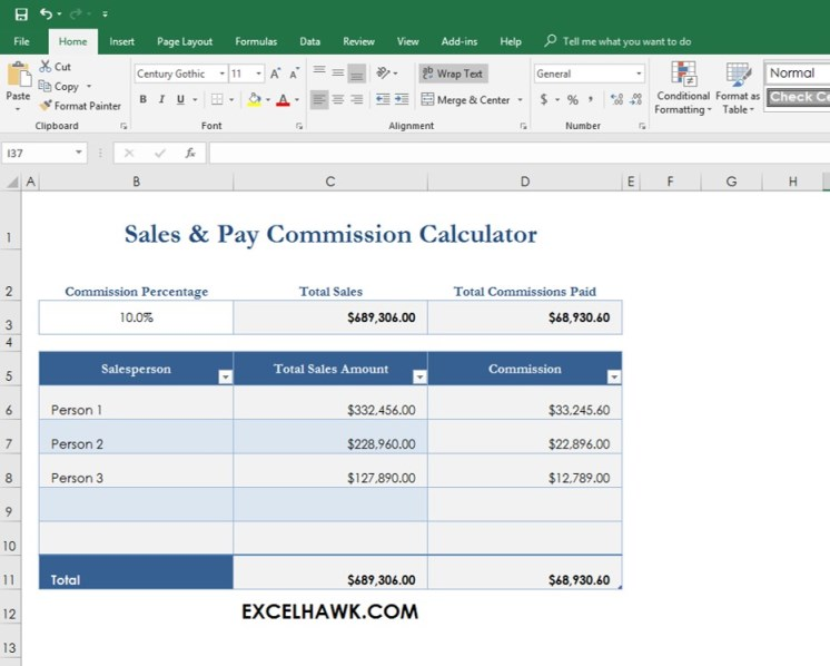 Download Sales Commission Pay Calculator Spreadsheet