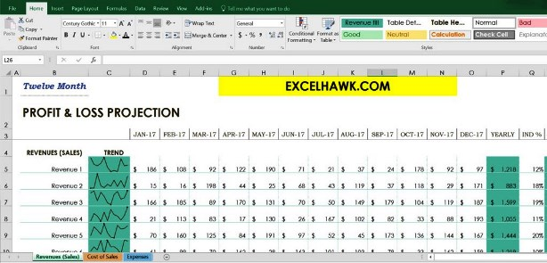 Download Profit Loss Template Related Excel Templates for Microsoft