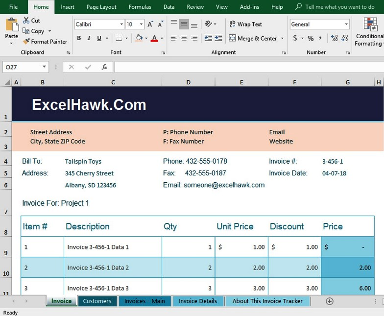 Download Invoice Related Excel Templates for Microsoft Excel 2007