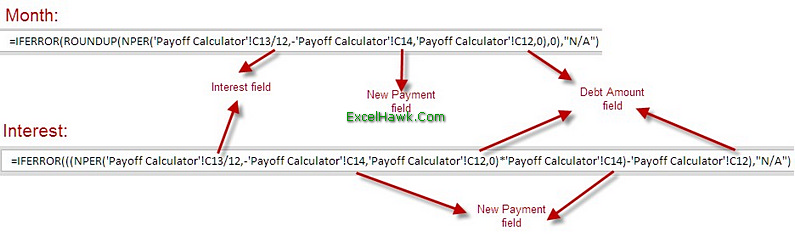 Credit Card Loan Payoff Calculator Excel Template Tutorial - payoff credit card loan